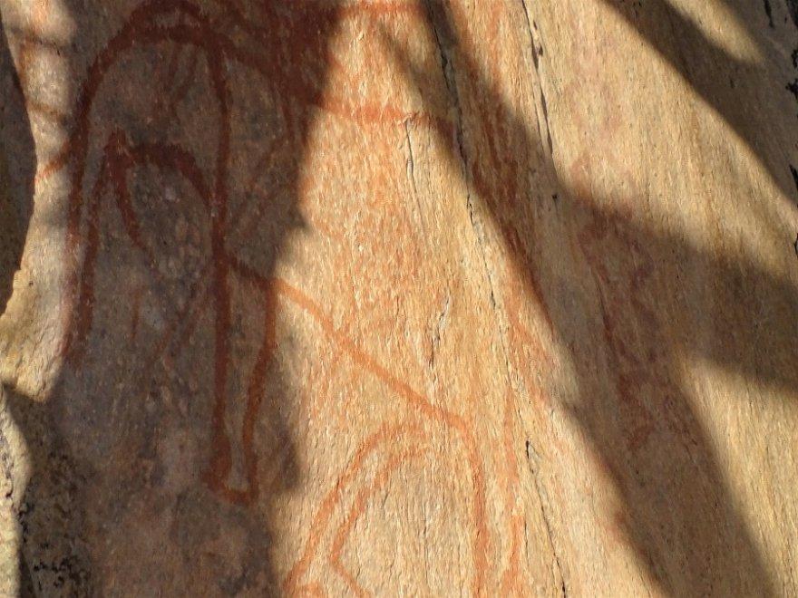 Botswana Chobe Nationalpark Savuti San Felsmalerei Rock Painting