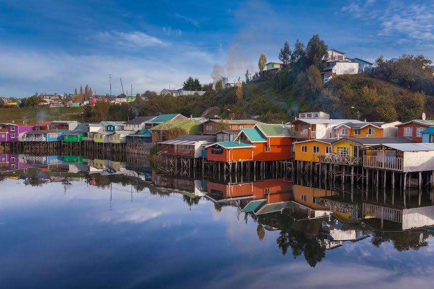 Pfahlbauten Chiloé Seenregion Chilenische Schweiz Chile