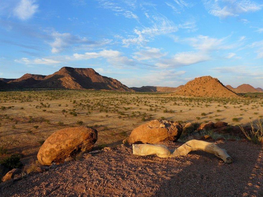 Namibia Damaraland Landschaft Sonnenuntergang