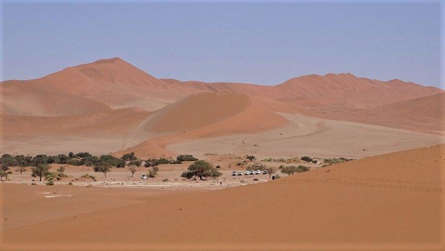 Namibwüste Sossusvlei Dünen Parkplatz Deadvlei