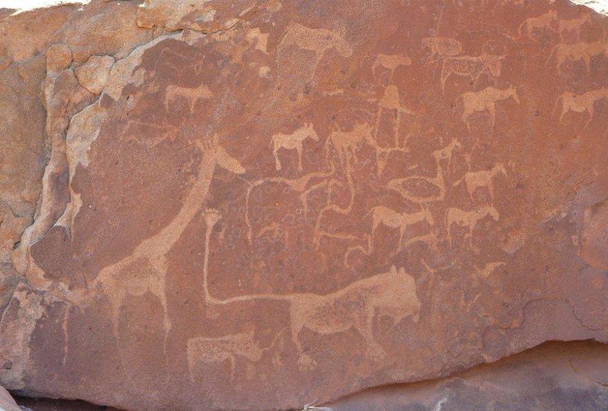 Afrika Namibia Twyfelfontein Rock Painting