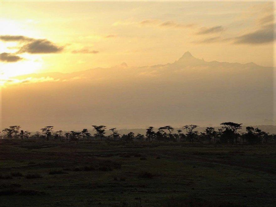 Mount Kenya Massiv Kenia Ostafrika Berg