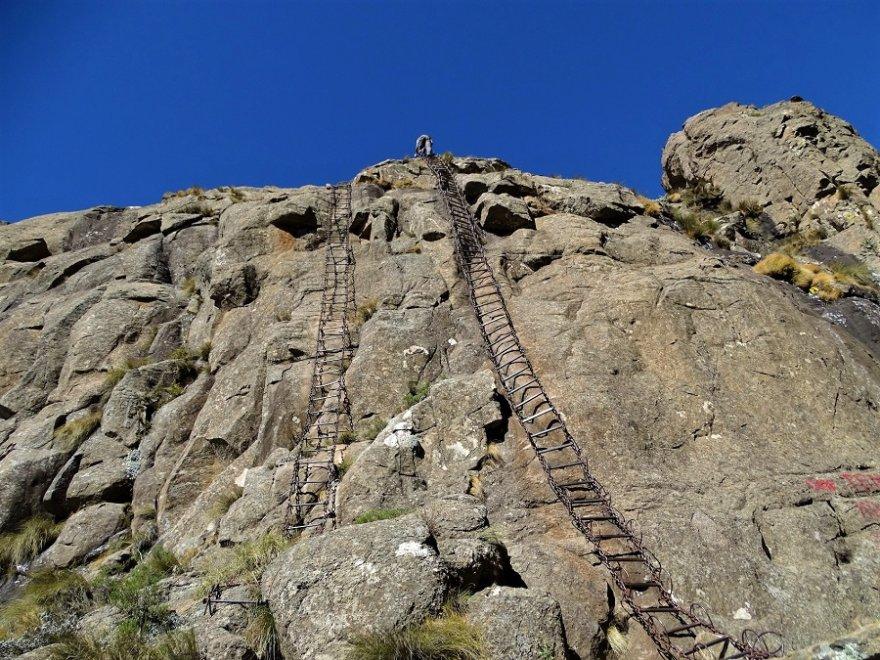 Südafrika Drakensberge Royal Natal Nationalpark Tugela Falls Wanderung