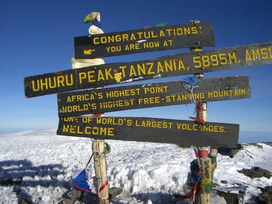 Tansania Kilimanjaro Uhuru Peak Gipfel