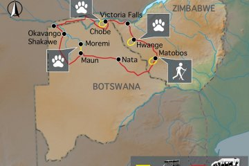 Botswana & Simbabwe Ivory Route